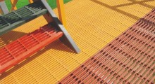 best fiberglass grating prices on pultruded-frp-grating-with-stair-treads