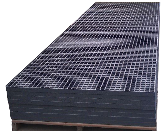 This molded fiberglass grating with square mesh pattern is one of many square mesh patterns available from National Grating.