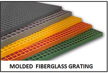 molded fiberglass grating from National Grating - FRP molded grating sold across USA