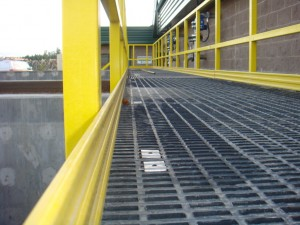 This is a molded fiberglass grating walkway.