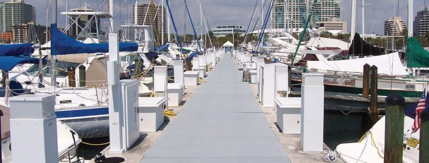 marina walkway dock panels frp grating repair and install